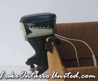158079957 vintage tornado battery operated Toy outboard motor