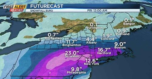 Major midweek snowstorm will miss Rochester area