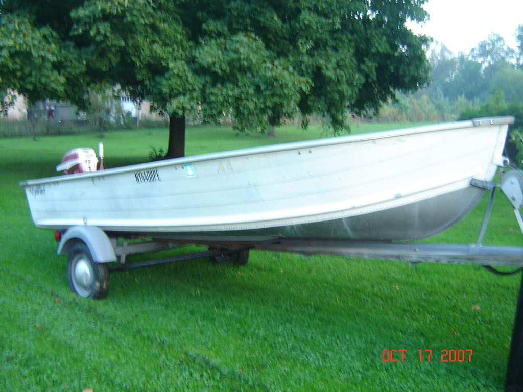 FS 14 foot aluminum boat/ motor/ trailer - Cheap - $750 - Boats