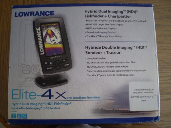 Lowrance Elite 4x Color Depth Finder