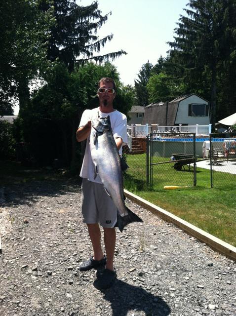 King slammin olcott 7 14 am live new york fishing for Olcott ny fishing report