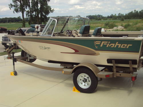 1999 16ft fisher aluminum boat classifieds buy sell for 16 foot aluminum boat motor size