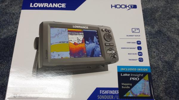 Lowrance hook 7 w/lake insight card BNIB - Classifieds - Buy, Sell