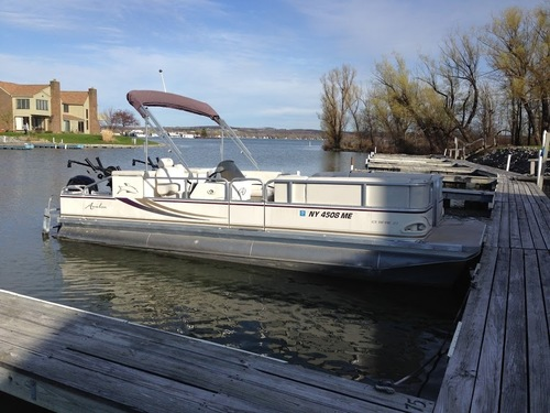 Pontoon Boat Set Up For Downrigger Fishing Classifieds