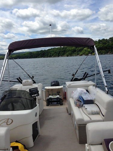 pontoon boat set up for downrigger fishing - classifieds - buy  sell  trade or rent