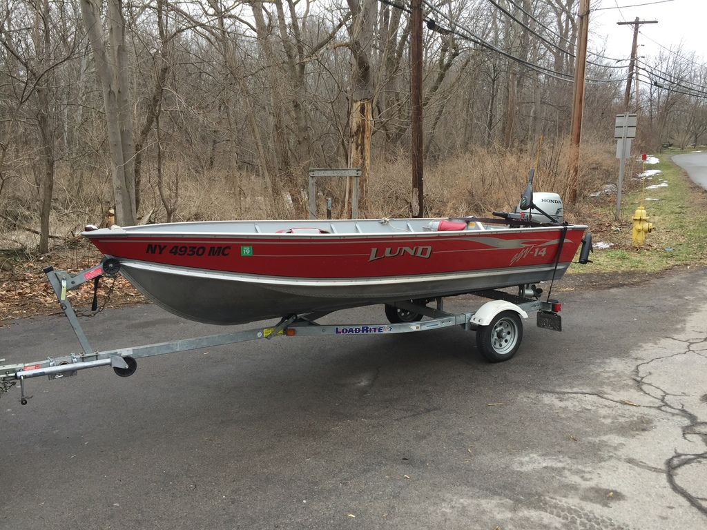 2005 14-foot Lund boat and trailer - Boats for Sale - Lake Ontario