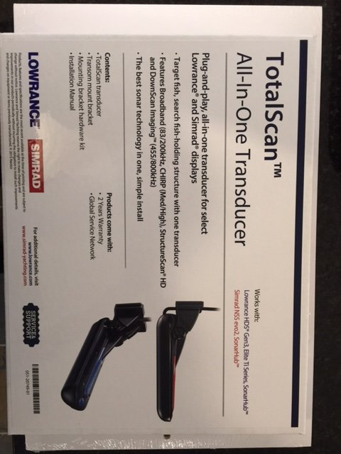 TOTAL SCAN TRANSDUCER - LOWRANCE, SIMRAD - Classifieds - Buy