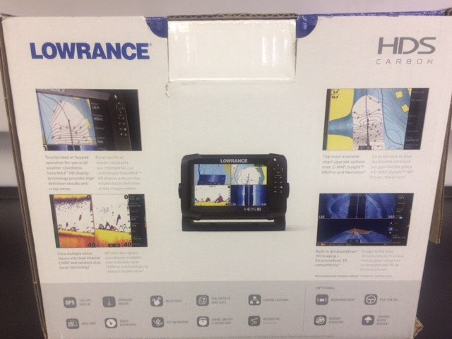 Lowrance Carbon HDS-7 fishfinder/chartplotter with extras