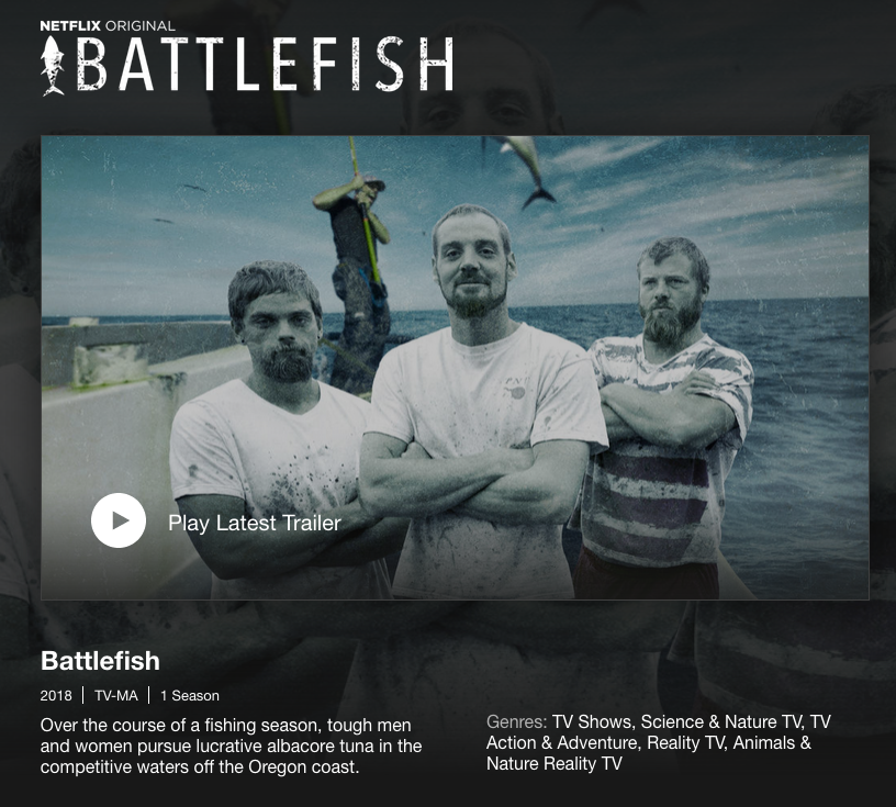 Netflix / Battlefish - Open Lake Discussion - Lake Ontario